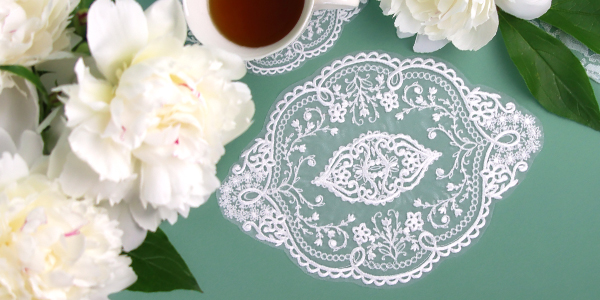 Free project instructions for creating freestanding organza.