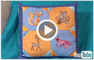 Free video featuring different pillow projects sure to inspire.
