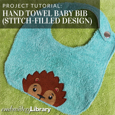 Hand Towel Baby Bib (Stitch-filled Design)