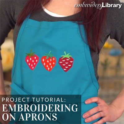 Embroidering on Aprons