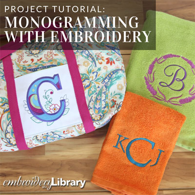 Monogramming with Embroidery