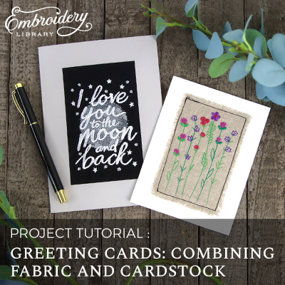 Greeting Cards: Combining Fabric and Cardstock