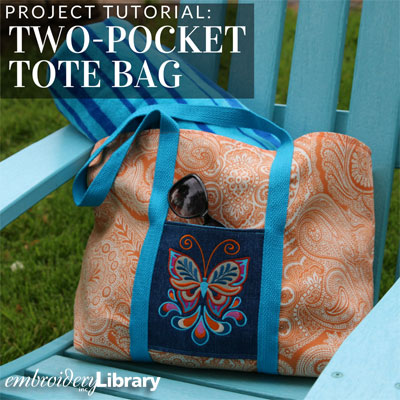 Two-Pocket Tote Bag