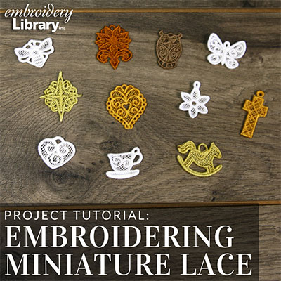 Embroidering Miniature Lace
