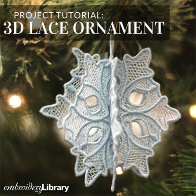 3D Lace Ornaments