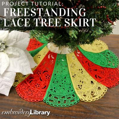 Freestanding Lace Tree Skirt
