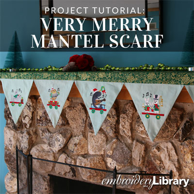 Very Merry Mantel Scarf
