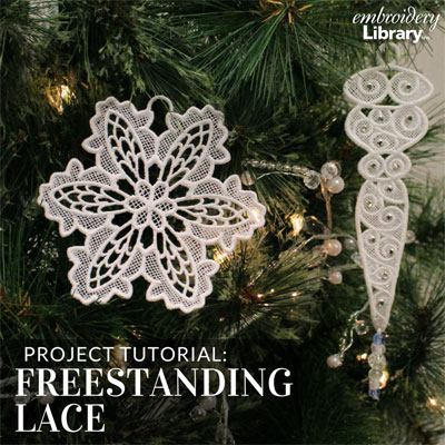 Embroidering Freestanding Lace