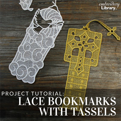 Lace Bookmarks with Tassels