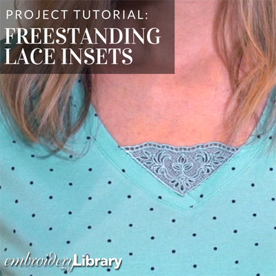 Freestanding Lace Insets