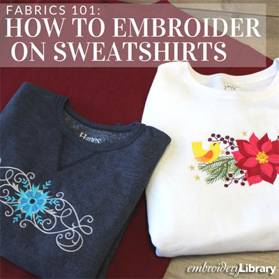 Embroidering on Sweatshirts