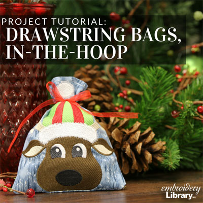 Drawstring Bags, In-the-Hoop