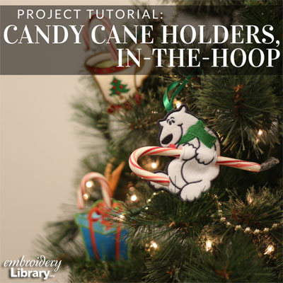 Candy Cane Holders, In-the-Hoop