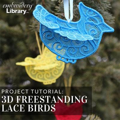 3D Lace Birds