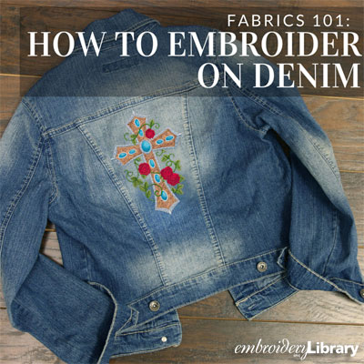 Embroidering on Denim