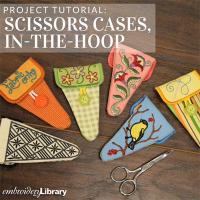 Small Scissors Cases, In-the-Hoop