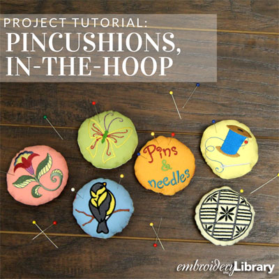 Pincushions, In-the-Hoop