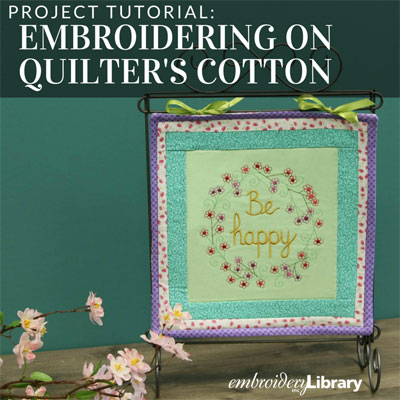 Embroidering on Quilters Cotton