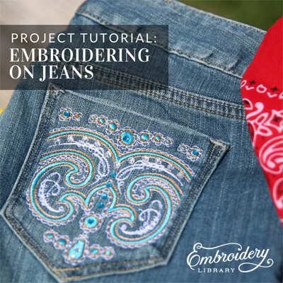 Embroidering on Jeans