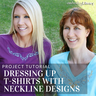 Dressing Up T-Shirts with Neckline Designs