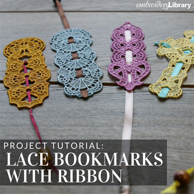 Lace Bookmarks with Ribbon