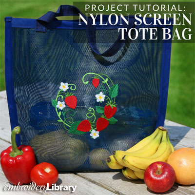 Nylon Screen Tote Bag