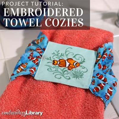 Embroidered Towel Cozies