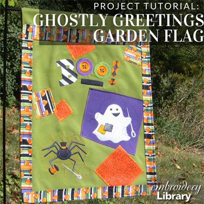 Ghostly Greetings Garden Flag