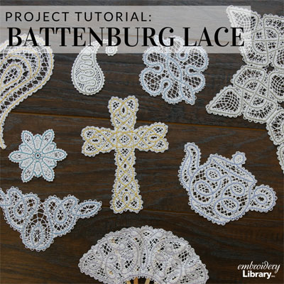 Freestanding Battenburg Lace