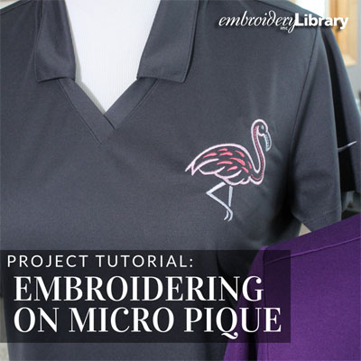 Embroidering on Micro Pique