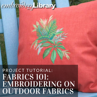 Embroidering on Outdoor Fabrics