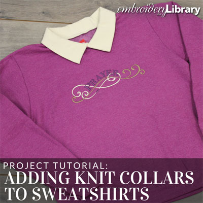 Adding Knit Collars to Sweatshirts