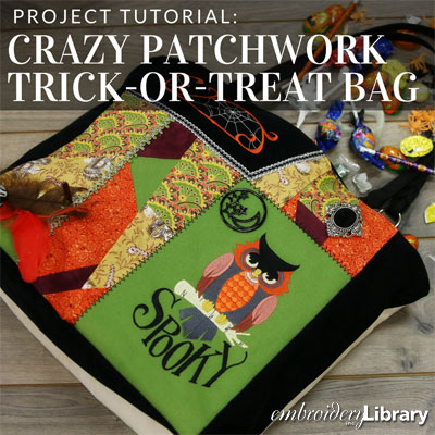 Crazy Quilt Trick or Treat Bag