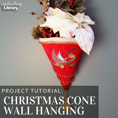 Christmas Cone Wall Hanging