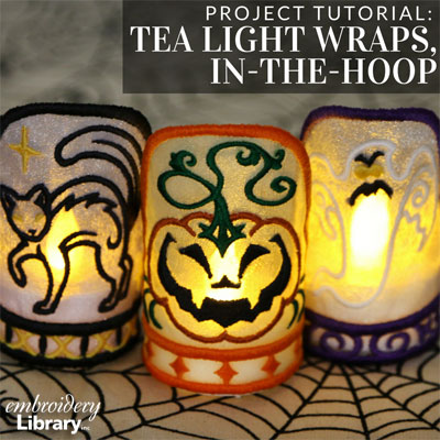 Tea Light Wraps, In-the-Hoop
