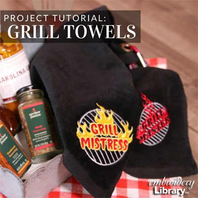 Embroidered Grill and Golf Towels
