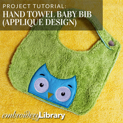 Hand Towel Baby Bib (Applique Design)