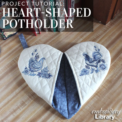 Heart-Shaped Potholder
