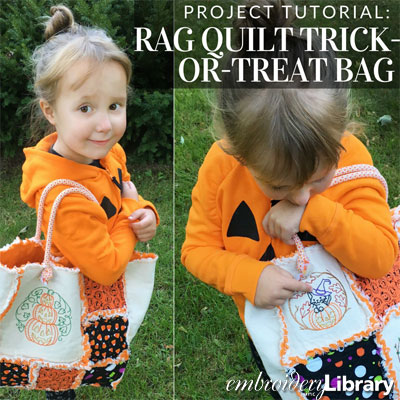 Raq Quilt Trick or Treat Bag