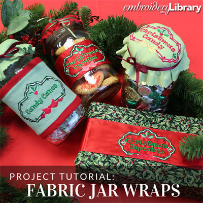 Festive Fabric Jar Wraps