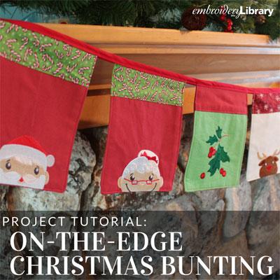 On-the-Edge Christmas Bunting