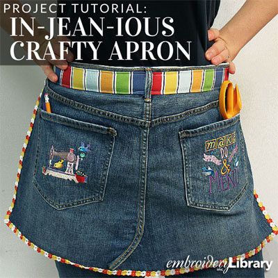 In-jean-ious Crafty Apron
