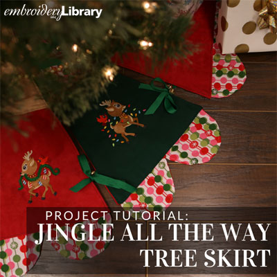 Jingle All the Way Christmas Tree Skirt