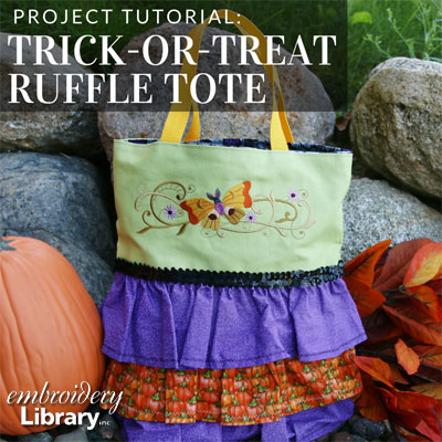 Trick or Treat Ruffle Tote
