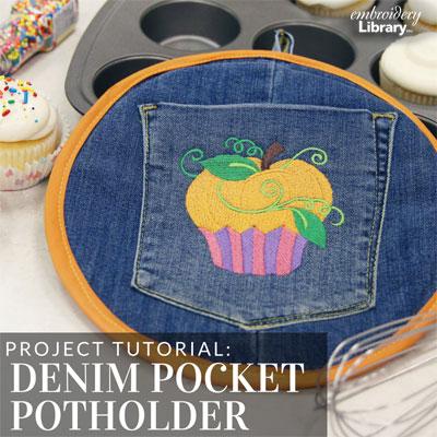 Denim Pocket Potholder