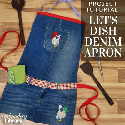 Let's Dish Denim Apron