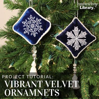 Vibrant Velvet Ornaments