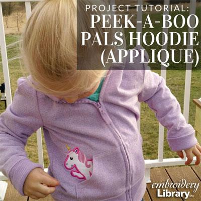 Peek-a-Boo Pals Hoodie (Applique)