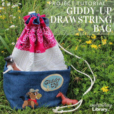 Giddy-Up Drawstring Bag
