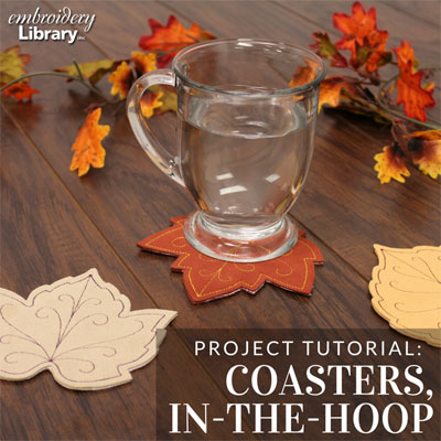 Seasonal Coasters, In-the-Hoop